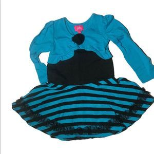 Pinky 24 Month Dress Blue and Black